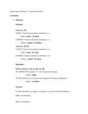 Repaso para el Examen 2 – Spanish in Business