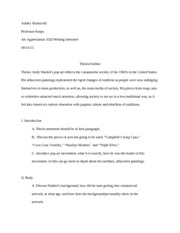 ideas for research paper topics for research paper andy warhol  most popular documents for art histor 1000