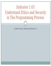 103_Understand_ethics_and_security_in_the_programming_process.pptx