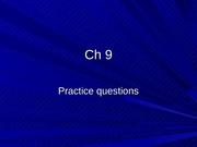 Ch 9 mc like questions with solutions