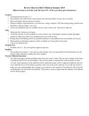 Bi211 midterm review and questions su15