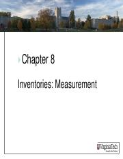 ASIS3115 Chapter 8 Measurement