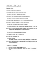 Q-CMN 105 Exam 2 Study Guide
