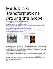 Module 18_ Transformations Around the Globe.docx