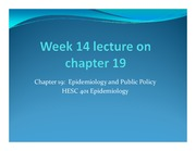 Week 14 lecture on chapter 19 revised
