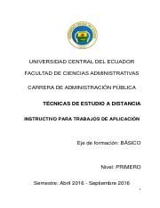 INSTRUCTIVO TRABAJO TECNICAS - AP