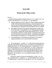 ECON 110 Fall 2007 Problem Set 8 Solutions