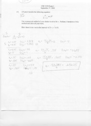 Exam 1 Solution CHE 2120 Fall 2004