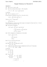 Sample Solutions for Tutorial 10