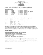 ORIE3150_syllabus FALL 2013 draft