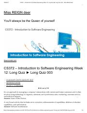 Introduction to Software Engineering Long Quiz 003.pd