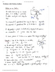Problems With Friction Notes