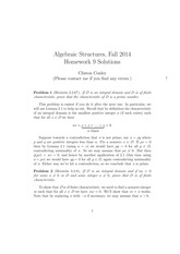 MATH 373 Fall 2014 Homework 9 Solutions