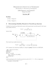 ME 2.004 Stability Bounds Notes