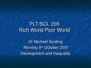 Development and Inequality