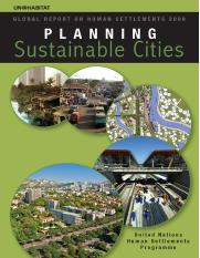 Global Report on Human Settlements 2009 Planning Sustainable Cities