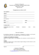 2014_Executive Networking Conference Application