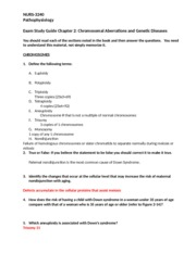C2 Chromosome Aberrations and Genetic Diseases Study Guide .docx