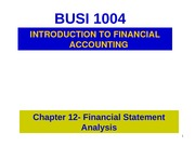 Chapter12- Financial Statement Analysis