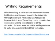 Tips for Written Assignments