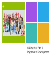 adolescent psychology midterm Psychology 276 midterm 1 this is a preview content a premier membership is required to view full answers view answers 1) according to adolescents, what is the best thing about school  adolescent has lived in the united states, the more likely he or she is to.