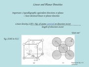 2.2 LINEAR & PLANAR DENSITIES