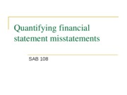Copy of Quantifying financial statement misstatements