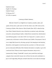 final draft of essay plagiarism leeper katherine leeper 2 pages listening to khakis journal