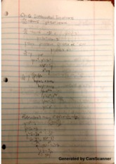 Differential Equations and Euler's Method Class Notes