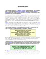 Domesday Book Handout