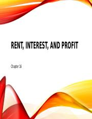 Chapter 16 -Rent, Interest, and Profit (1).pptx