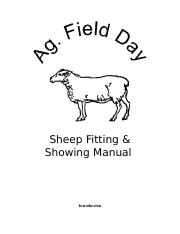 Ag. Field Day Sheep Manual