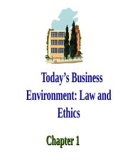 Ch 1 Law and Ethics  13th ed.ppt