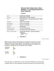 fin 319 Quiz Module 5 Conveying Interest in Real Property.docx
