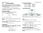 1.3 Complex Numbers