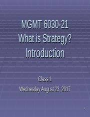 Class1 PMBA 6030 Strategy fall 2017 out.ppt