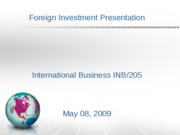 Foreign Investment Presentation