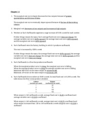 Quiz Answer - Chapter 11 & 12 (Econ 1000)