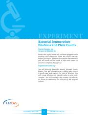 Bacterial Enumeration-Dilutions and Plate Counts - EXP