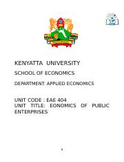 EAE 404 ECONOMICS OF PUBLIC ENTERPRISES.doc