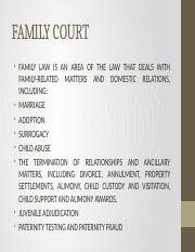 Salient features of Family courts Act, 1984.pptx