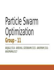 Particle swarm optimization Final V5