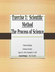 Exercise 1 The Scientific Method (3)