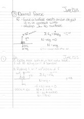 Phys 130 Class Notes- Normal Force