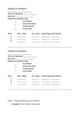 7150AFE Terms of Payment Activity Answer Sheet