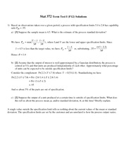 Stat 372 Term Test 1 Solutions