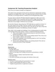 2B-Teaching Perspectives Profile