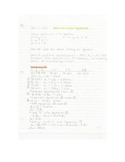 Applied Math - Intro to Linear Equations Lecture Note