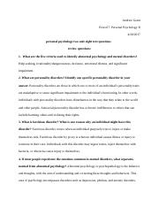 personal psychology two unit eight text questions .docx