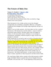 The Future of Baby Doe